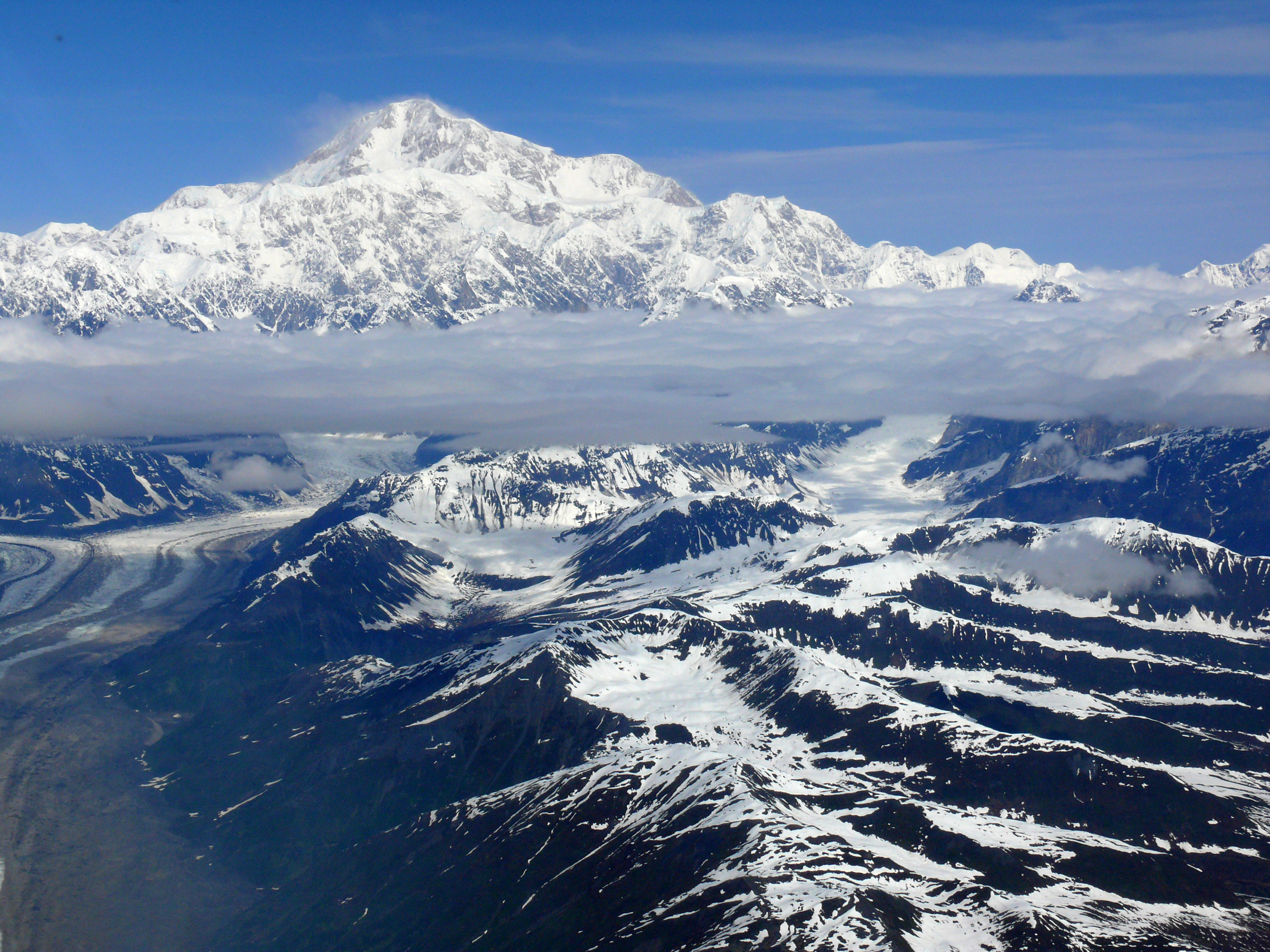 Summit of Denali Above the Clouds