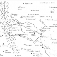 Afterlife:  Map of the Southwest Territories