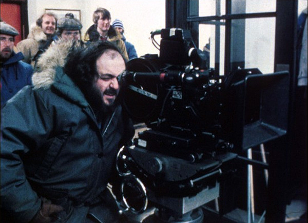 stanley kubrick on the set of the shining