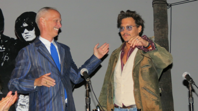 Jon Waters introduces surprise guest Johnny Depp resize