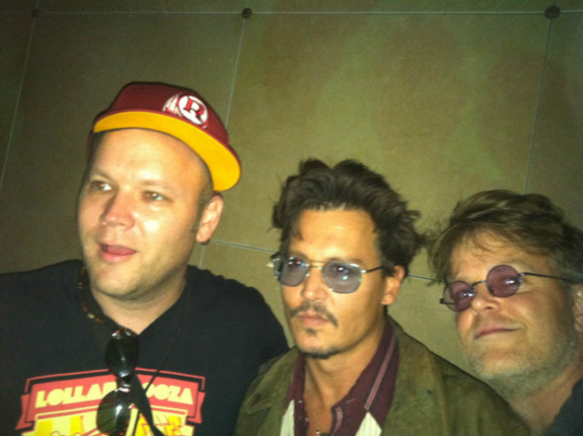 me Johnny Depp and DanO