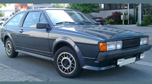 A VW Scirocco of the Era