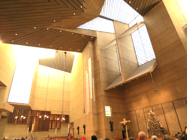 cathederal of our lady of the angels angles los angeles interior inner cross