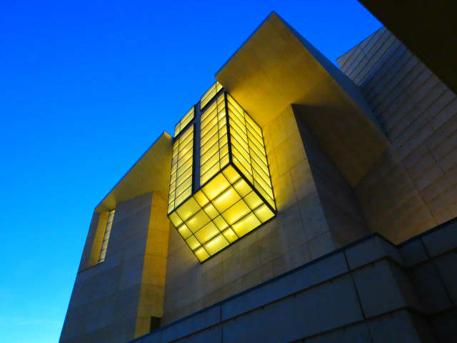 cathederal of our lady of the angels los angeles exterior night