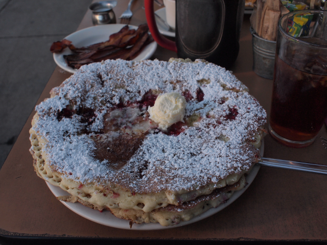 Pancake from Griddle Cafe on Sunset Boulevard in Los Angeles California