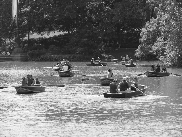 boaters central park bw