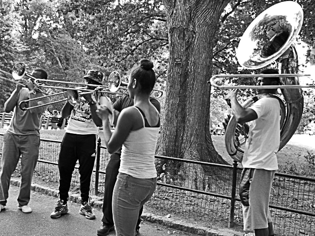brass band central park