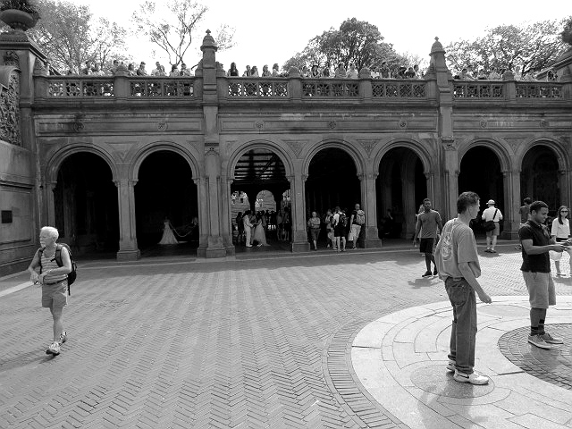 grotto central park bw