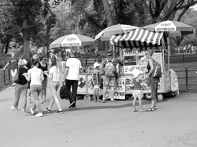hot dog stand central park